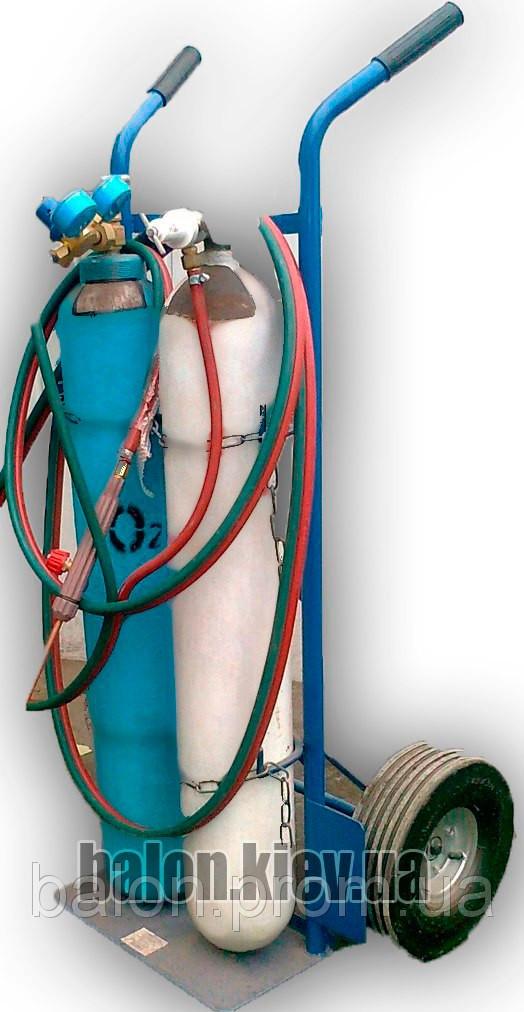 Зварювальний пост, ацетилен і кисень 10л.
