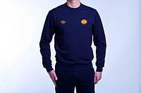 Футбольный спортивный костюм адидас,манчестер юнайтед - синий