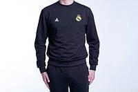 Спортивный костюм реал мадрид- черный,адидас (Adidas)