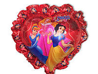 Воздушные шары фольга Принцессы на палочке