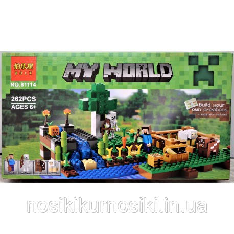 Конструктор Майнкрафт 81114 Minecraft Ферма, 262 детали