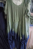 Платье из натурального шелка большие размеры Италия