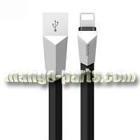 HOCO lightning кабель X4 Zinc Alloy rhombus, black