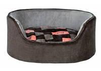Trixie - Currito Лежак для собак, серый-розовый, 55х45см