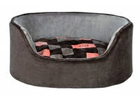 Trixie - Currito Лежак для собак, серый-розовый, 85х65см