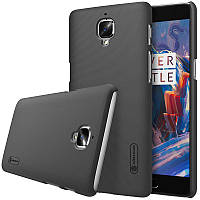 Nillkin OnePlus 3(A3000)/3T Super Frosted Shield Black Чехол Накладка Бампер