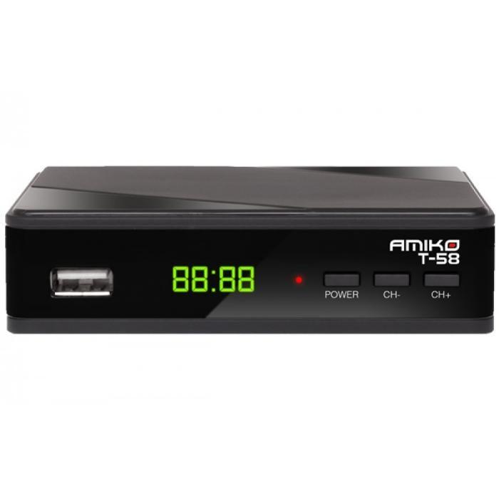 T2 ресивер тюнер Amiko T58 DVB-T2 Dolby Digital AC3