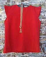 Детская блузка с украшением Ярослава  р.104-128 красный