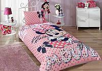 Детское подростковое постельное белье TAC Minnie Mouse Dream Ранфорс