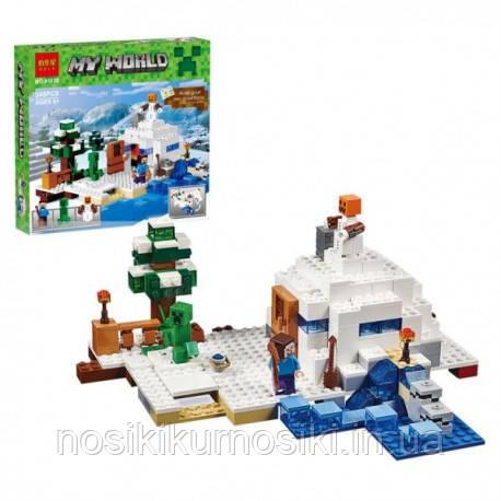 Конструктор Майнкрафт Minecraft Снегоуборочная техника 345 деталей
