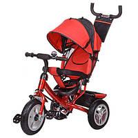 Велосипед трехколесный с родительской ручкой Turbo Trike M 3113-3А (красный)