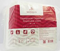 Салфетки одноразовые нарезанные 20*20 гладь 100 шт/уп. Monaco Style