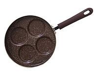 """Сковорода для оладий и яичницы """"Mosses Stone"""" 26х4.5см алюминиевая Fissman"""