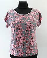 """Блузка """"Розовые цветы"""", 50-60 размер"""
