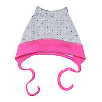 Хлопковая шапочка на завязках для малышки