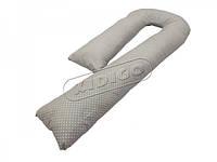 Подушка для беременных KIDIGO J - образная Горошек (с наволочкой) PDV-J3