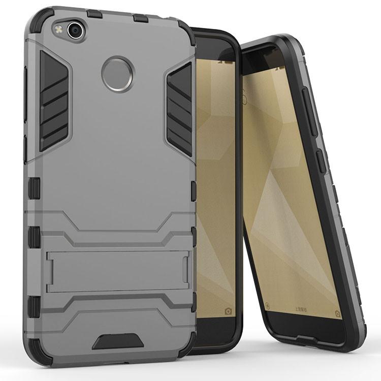 Чехол Iron для Xiaomi Redmi 4X бронированный Бампер Броня Gray