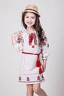 Вышитое детское платье для девочки Арина