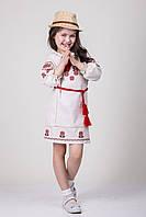 Вышитое подростковое платье для девочки из льна Арина, фото 1