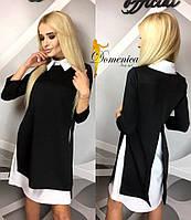 Платье двойка Ткань дайвинг и Софт Размер единый С-М(21163)