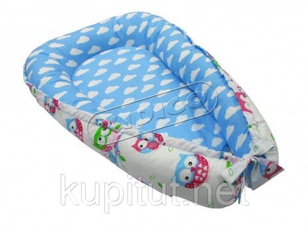 Кокон для новорожденных KIDIGO (Тучки-совы) KN-7