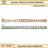 Линейка чисел от 0 до 20