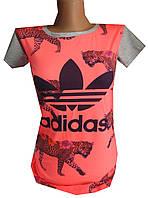Футболка женская леопард adidas (лето)
