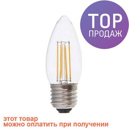 Светодиодная LED лампочка LB-58 C37 E14 4W 4000K/светодиодная лампочка, фото 2