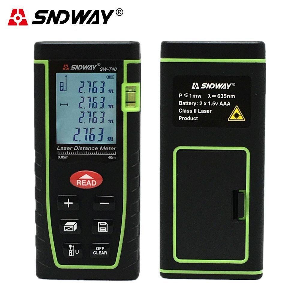 Лазерний далекомір SNDWay Sw-T40 (рулетка) до 40м