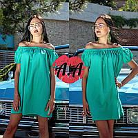 Короткое платье коттон Мята   Арт. 510АР