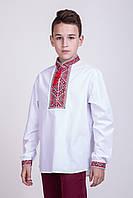 Детская вышиванка для мальчика с красно-черным орнаментом