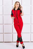 Женский  костюм Рошаль  красный