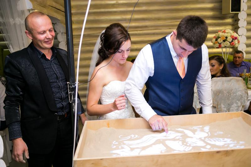 Песочное шоу на свадьбу  - Event студия праздников Magik в Виннице