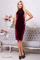 Красивое  изящное женское  платье 2111 марсала XXL