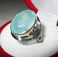 """Крупный перстень с голубым халцедоном """"Весна"""", размер 18 от студии LadyStyle.Biz, фото 1"""