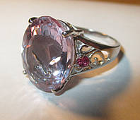 """Крупный перстень с султанитом  и рубинами """"Европа"""", размер 16,5 от студии LadyStyle.Biz, фото 1"""