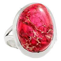 """Серебряный перстень  с океанической варисцидной яшмой """"Розовое"""", размер 17,6 от студии  LadyStyle.Biz, фото 1"""