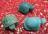 Черепаха привлекает удачу ( эпидот,  нефрит) от студии    LadyStyle.Biz, фото 1