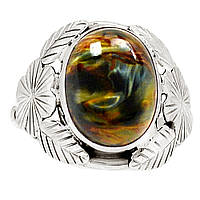 "Серебряное кольцо с петерситом ""Перелив"", размер 18. от Студии  www.LadyStyle.Biz, фото 1"