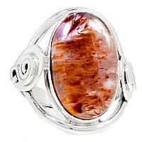 """Серебряное кольцо с какоксенитом """"Пламя""""  размер 18 от Студии  www.LadyStyle.Biz, фото 1"""