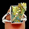 """Разноцветное колечко с золотисто-зеленым висмутом """"Зеленый пик"""",  размер 19.3   от студии LadyStyle.Biz"""
