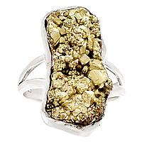 """Серебряное кольцо с пиритом  """"Золотник"""", размер 18.3  от студии LadyStyle.Biz, фото 1"""