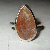 Серебряное кольцо с бронзовым рутиловым кварцем, размер 18.1    от студии LadyStyle.Biz, фото 1