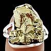 """Серебряное кольцо с пиритом  """"Золотой слиток"""", размер 18  от студии LadyStyle.Biz"""