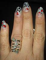 """Изящное колечко с херкимерским алмазом """"Неделька"""", размер 17,2 ,  от студии LadyStyle.Biz"""