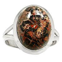 """Серебряный перстень  с  леопардовой  яшмой """"Сафари"""", размер 18,6 от студии  LadyStyle.Biz, фото 1"""