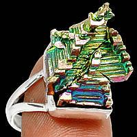 Разноцветное колечко с зеленоватым висмутом,  размер 18.3   от студии LadyStyle.Biz, фото 1