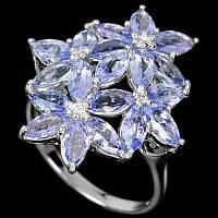 """Яркий перстень с танзанитами  """"Плеяда"""" , размер 18.2 от студии LadyStyle.Biz, фото 1"""