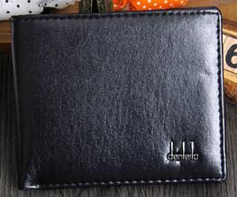 Кожаный мужской кошелек портмоне черный