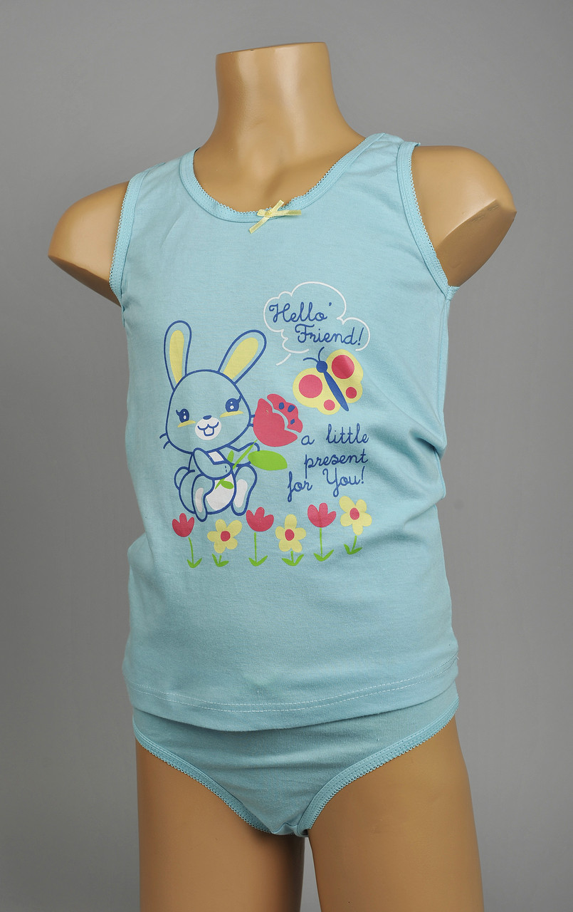 Комплект для девочек ( в одном цвете - голубой )